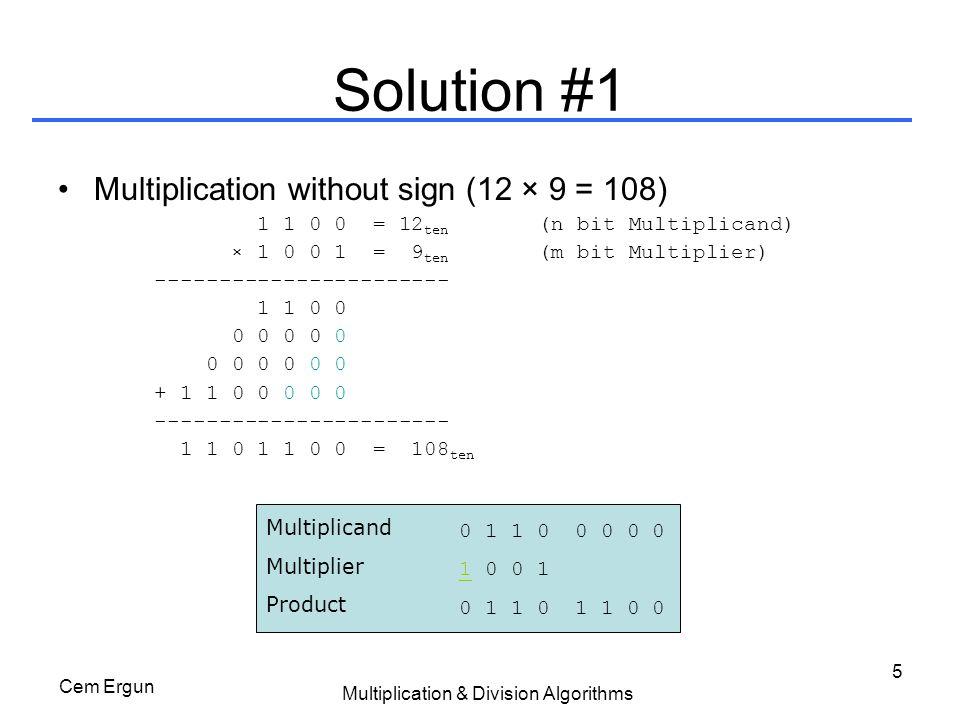 Multiplication & Division Algorithms