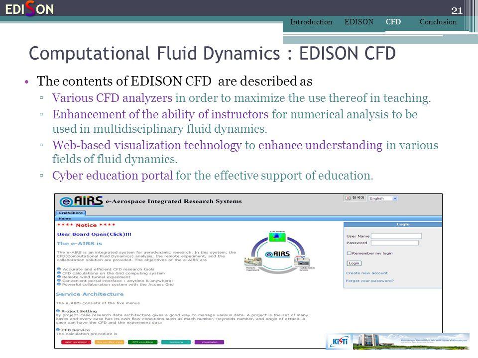 Computational Fluid Dynamics : EDISON CFD