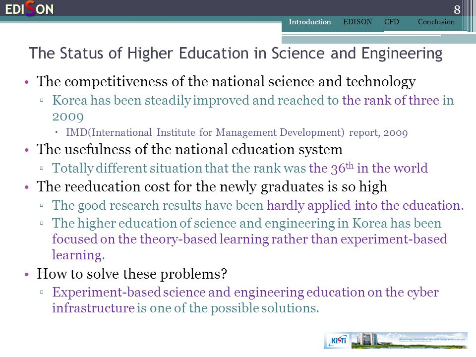 The Status of Higher Education in Science and Engineering