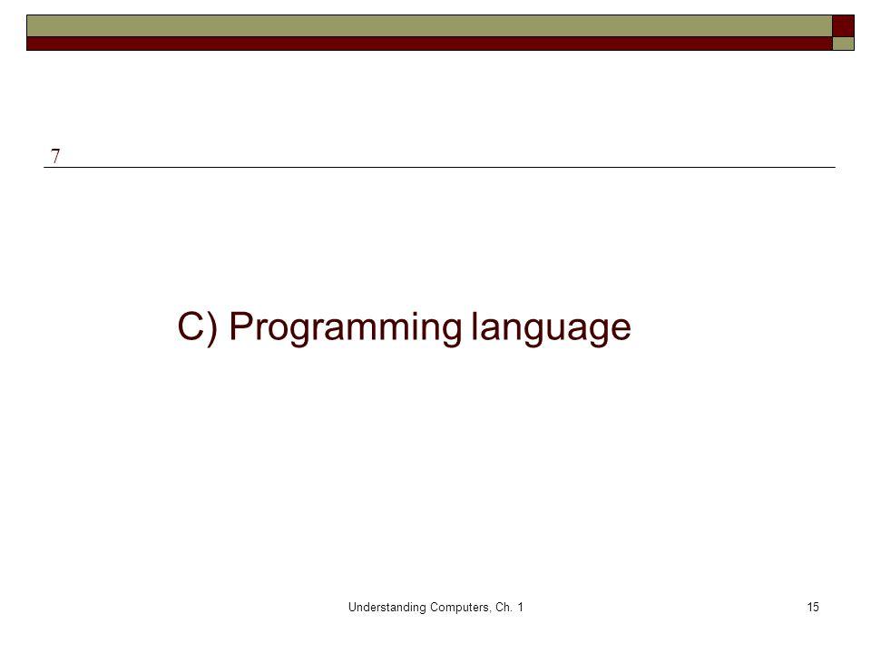 C) Programming language