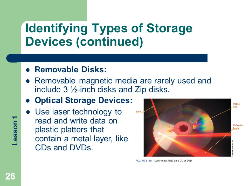 Identifying Types of Storage Devices (continued)