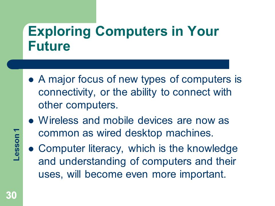 Exploring Computers in Your Future