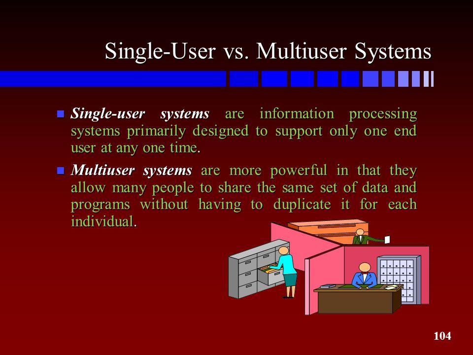 Single-User vs. Multiuser Systems