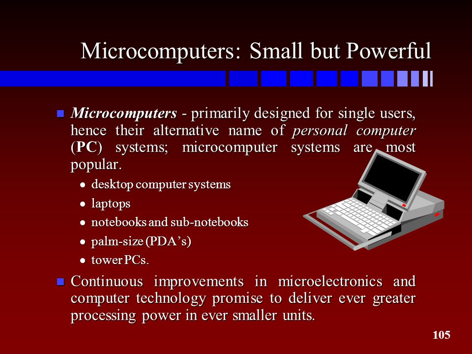 Microcomputers: Small but Powerful