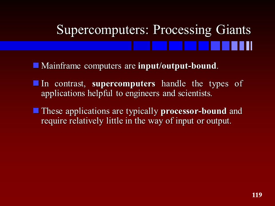 Supercomputers: Processing Giants