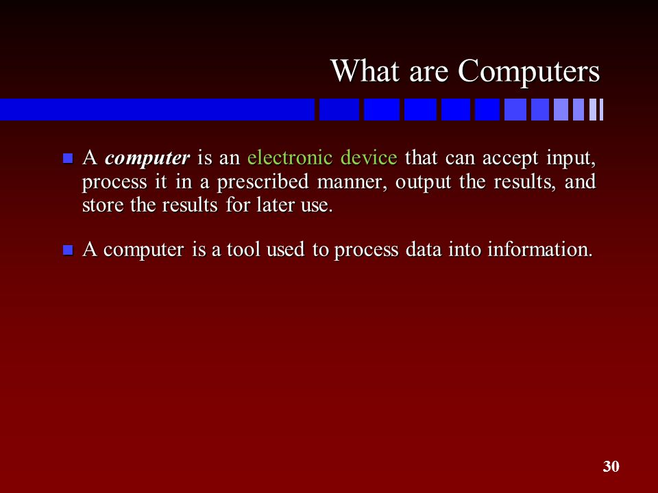 What are Computers