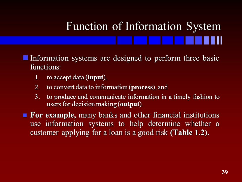 Function of Information System