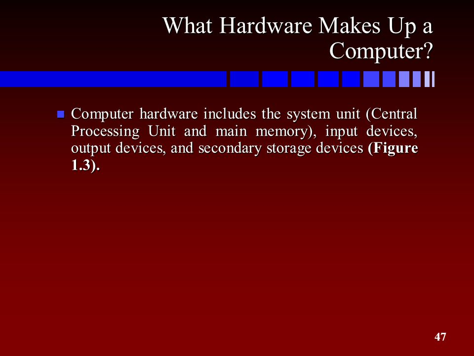 What Hardware Makes Up a Computer