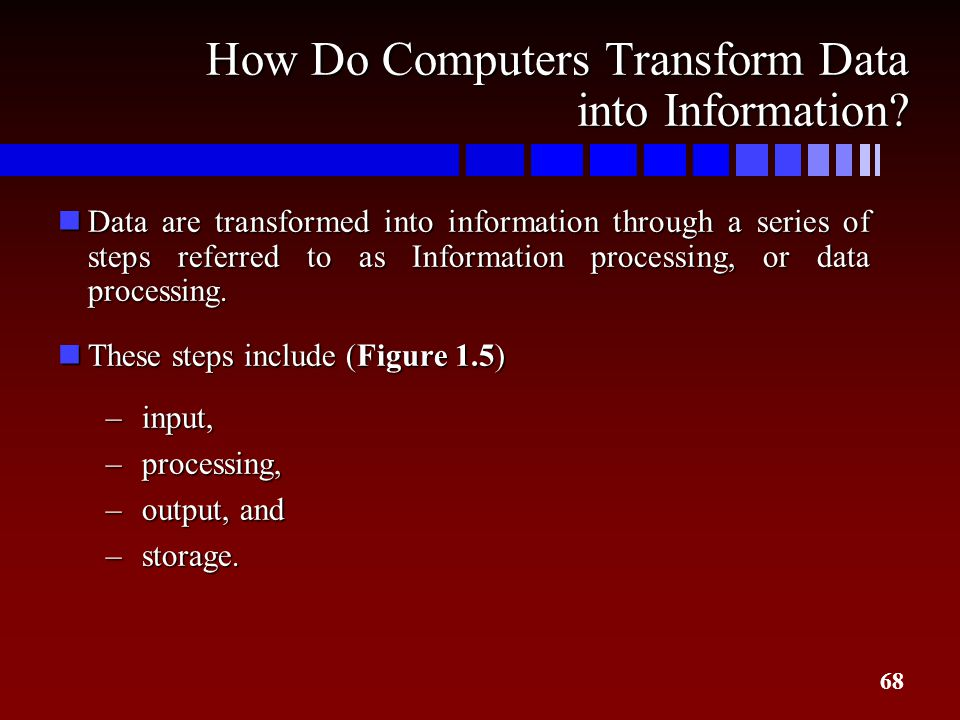 How Do Computers Transform Data into Information
