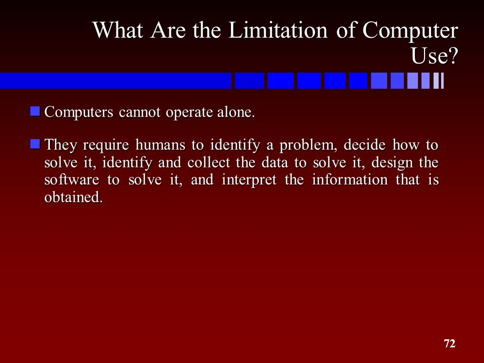 What Are the Limitation of Computer Use