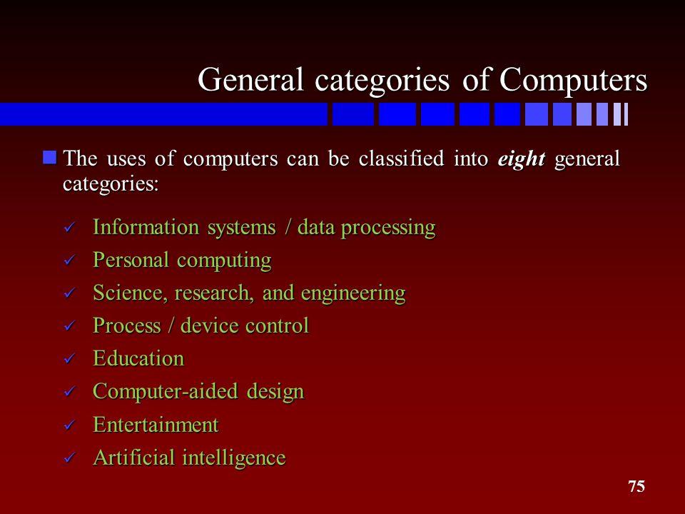 General categories of Computers