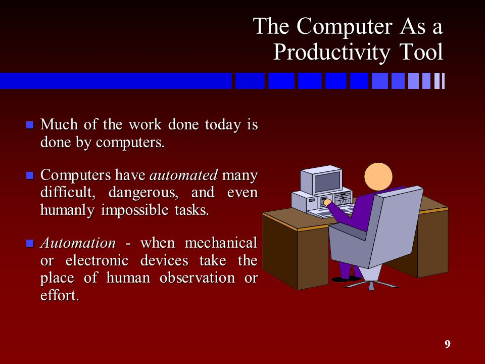 The Computer As a Productivity Tool