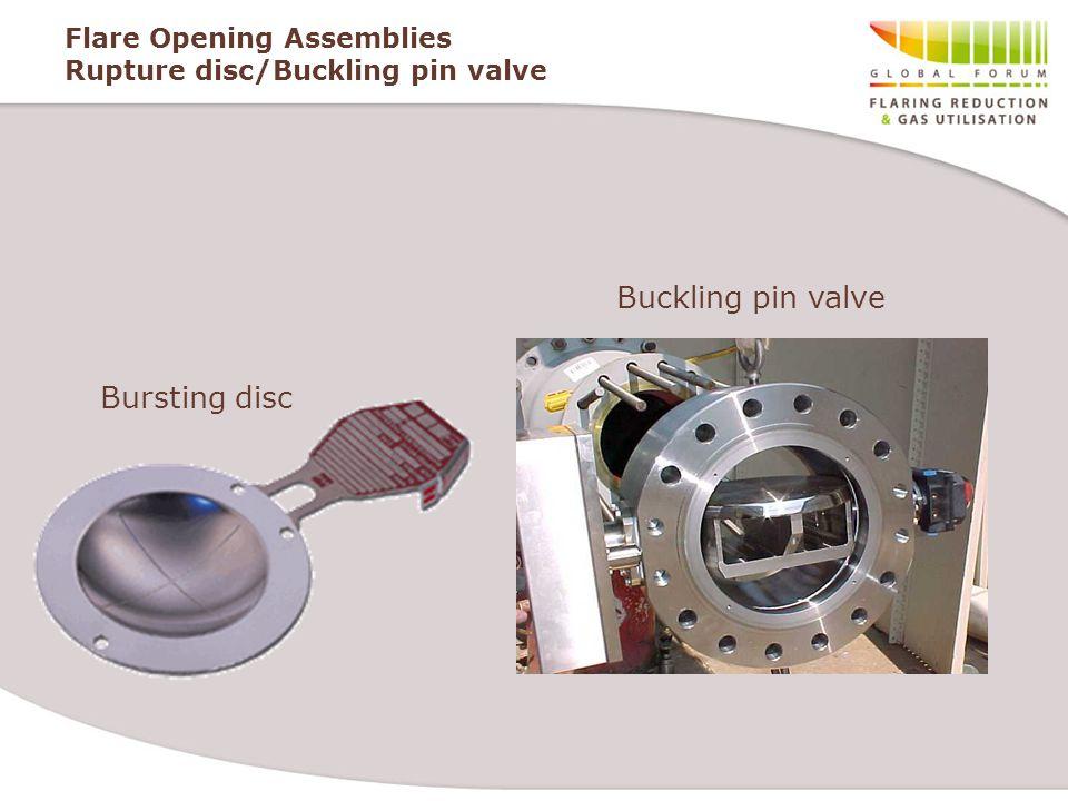 Flare Opening Assemblies Rupture disc/Buckling pin valve