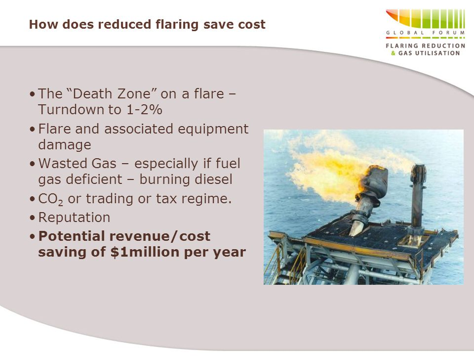 How does reduced flaring save cost