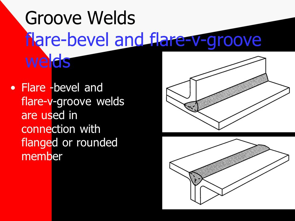 Groove Welds flare-bevel and flare-v-groove welds