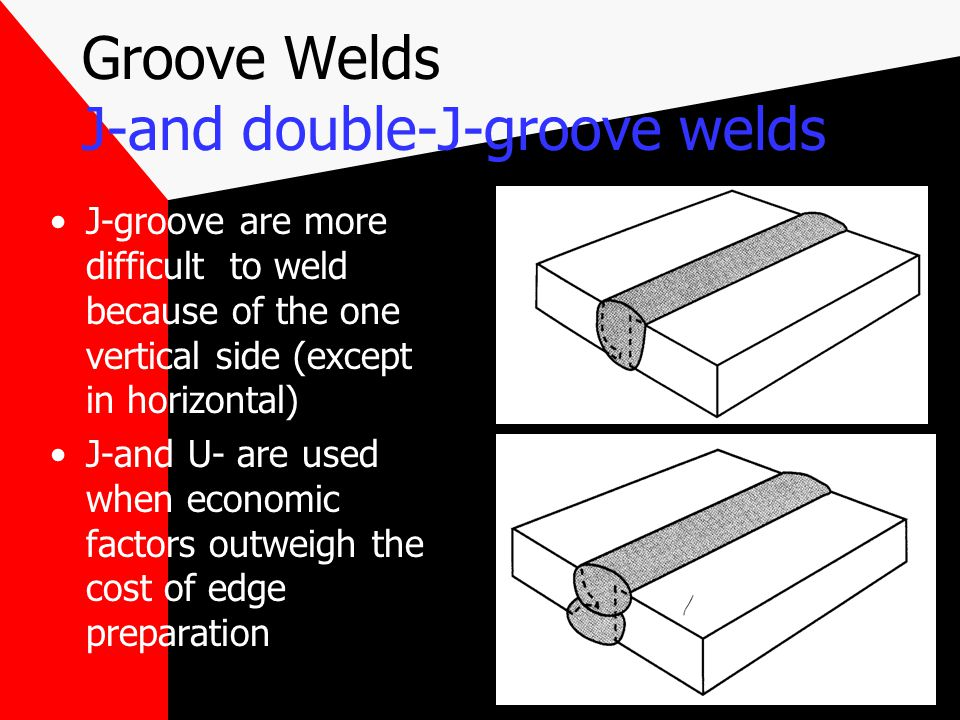 Groove Welds J-and double-J-groove welds