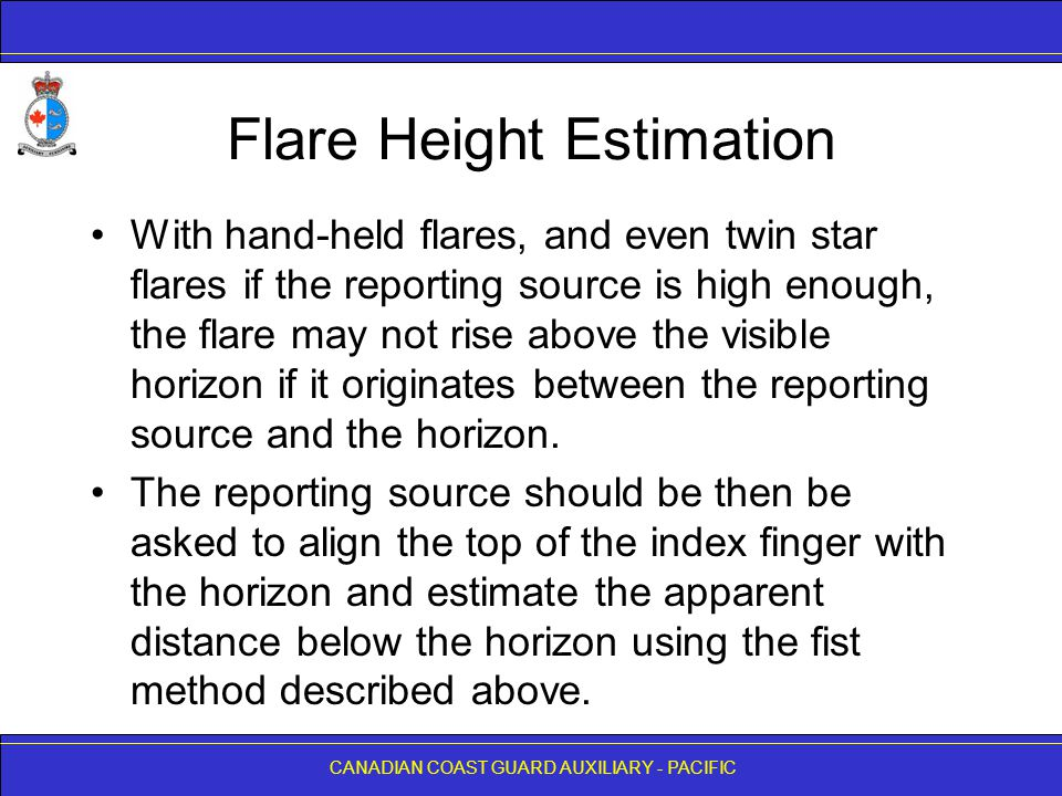 Flare Height Estimation