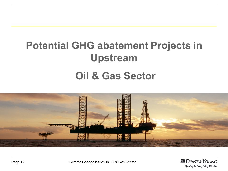 Potential GHG abatement Projects in Upstream