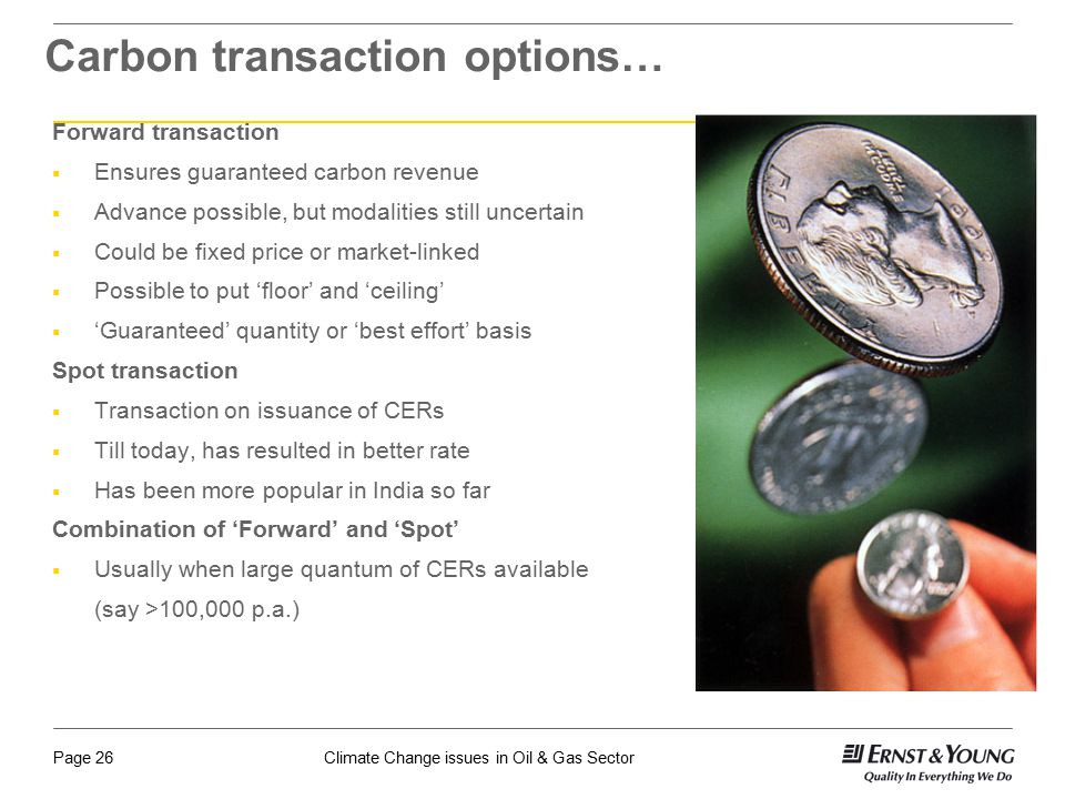 Carbon transaction options…