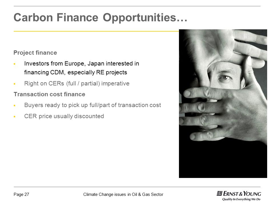 Carbon Finance Opportunities…