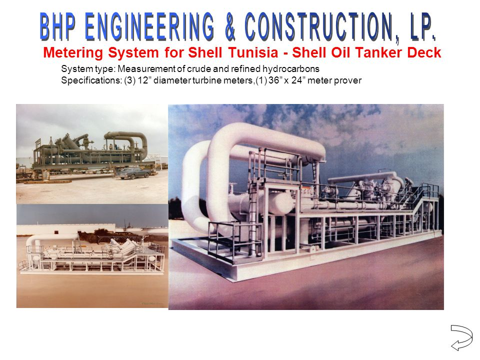 Metering System for Shell Tunisia - Shell Oil Tanker Deck