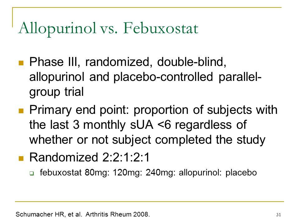 Allopurinol vs. Febuxostat