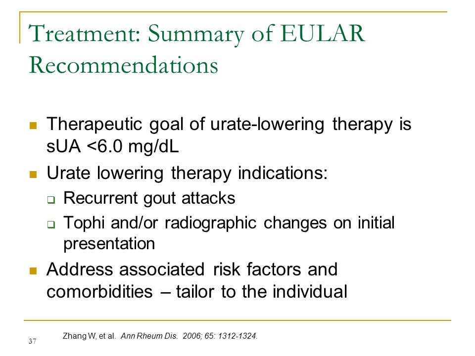 Treatment: Summary of EULAR Recommendations