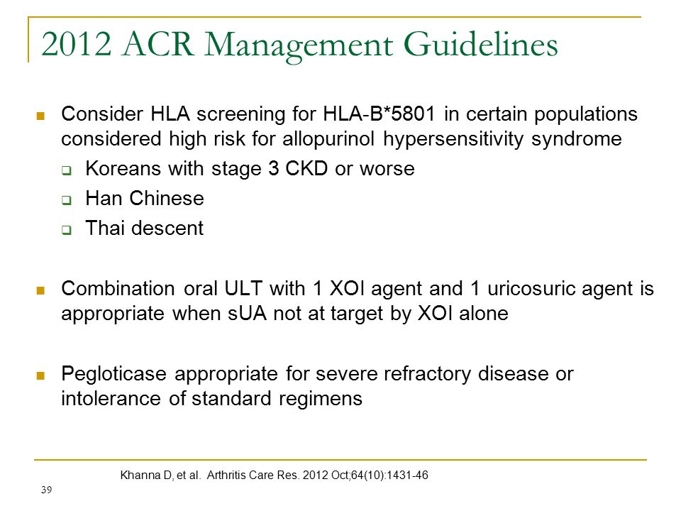 2012 ACR Management Guidelines