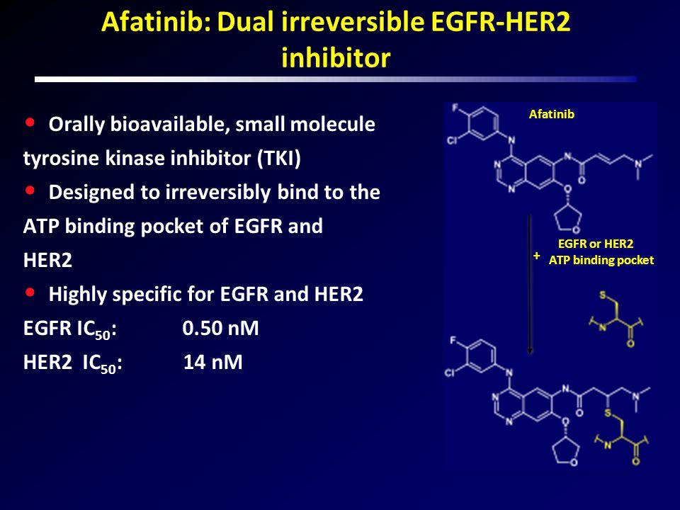 Afatinib: Dual irreversible EGFR-HER2 inhibitor