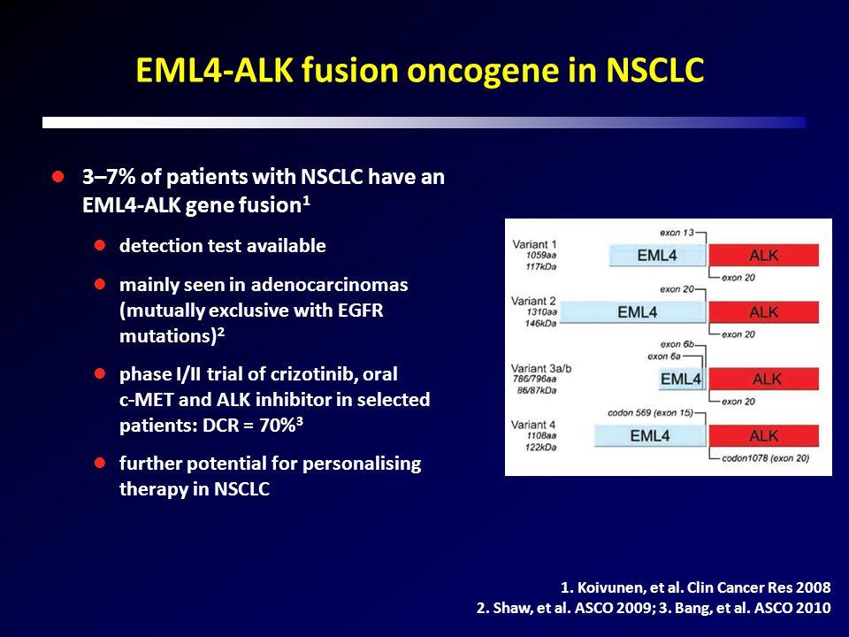 EML4-ALK fusion oncogene in NSCLC