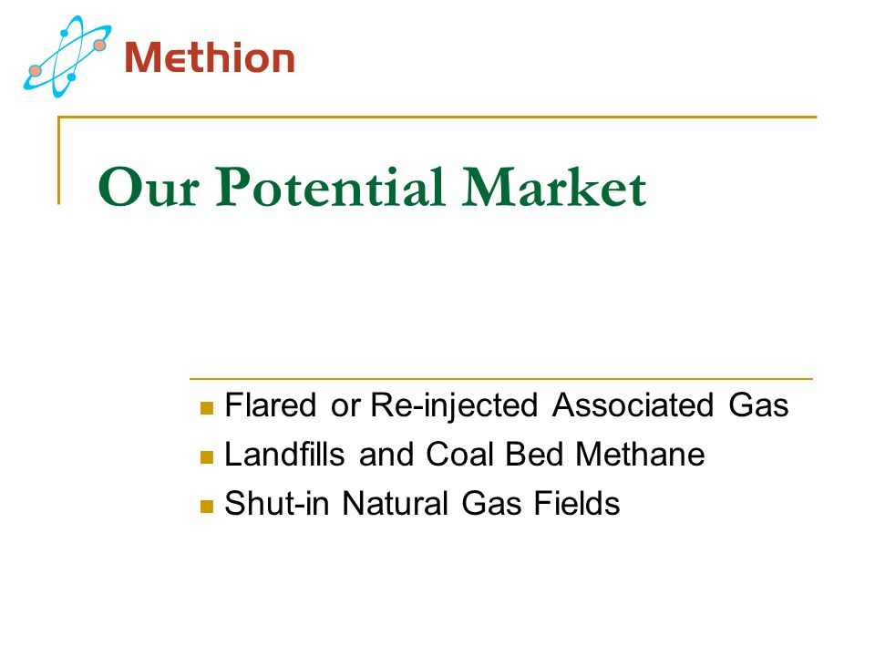 Our Potential Market Flared or Re-injected Associated Gas