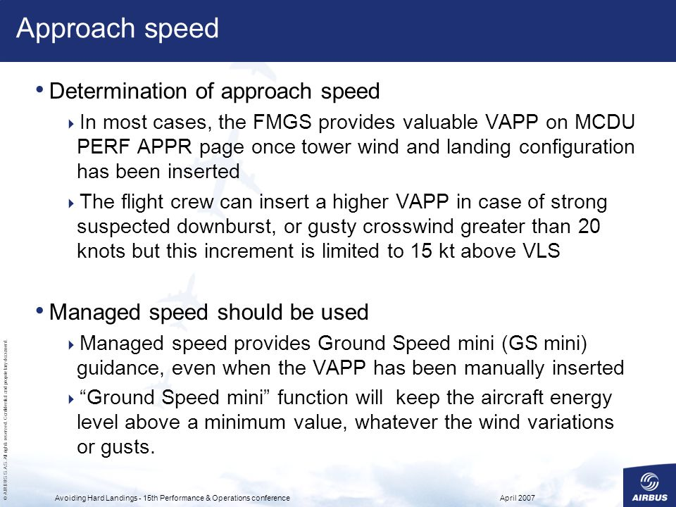 Approach speed Determination of approach speed