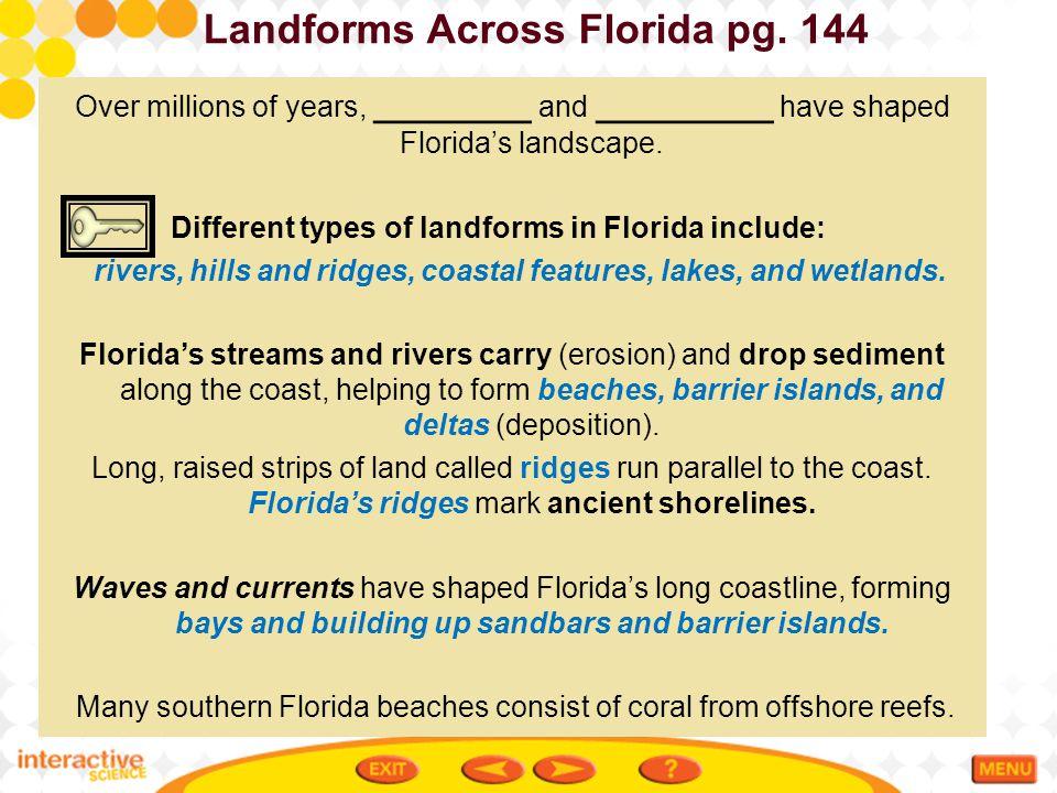 Landforms Across Florida pg. 144