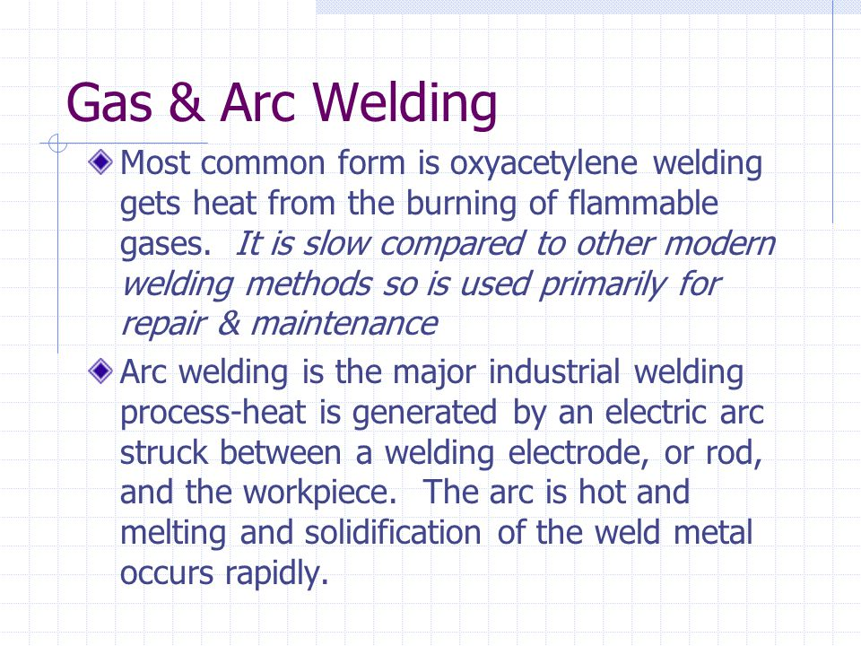 Gas & Arc Welding
