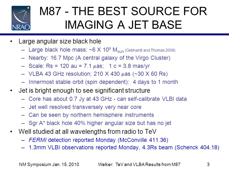 M87 - THE BEST SOURCE FOR IMAGING A JET BASE