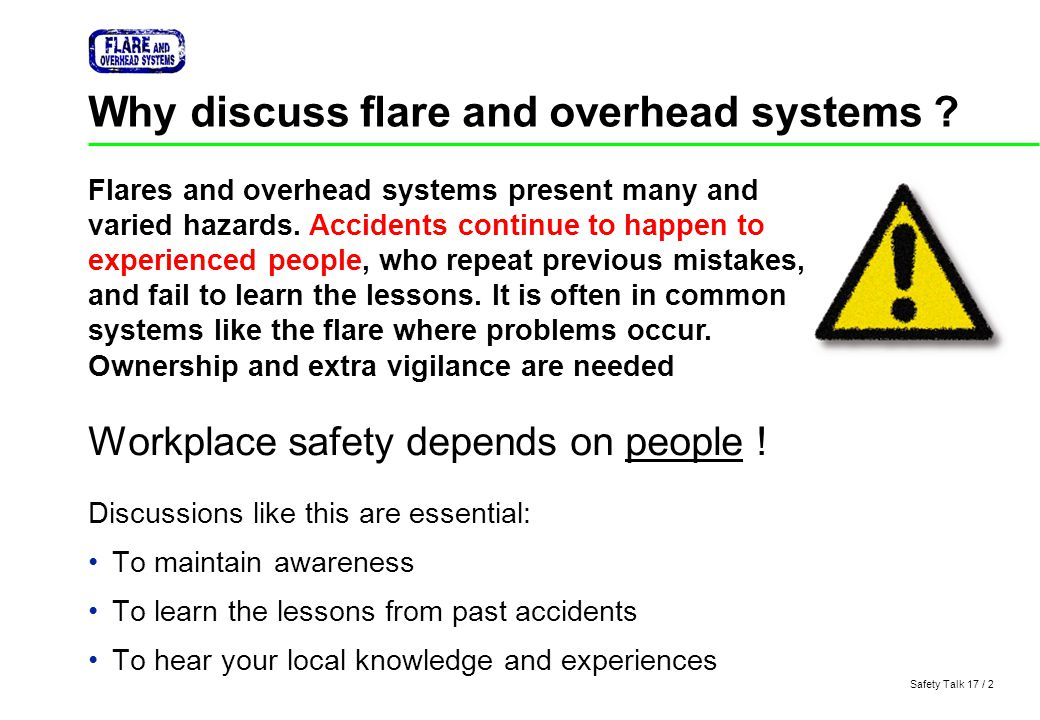 Why discuss flare and overhead systems