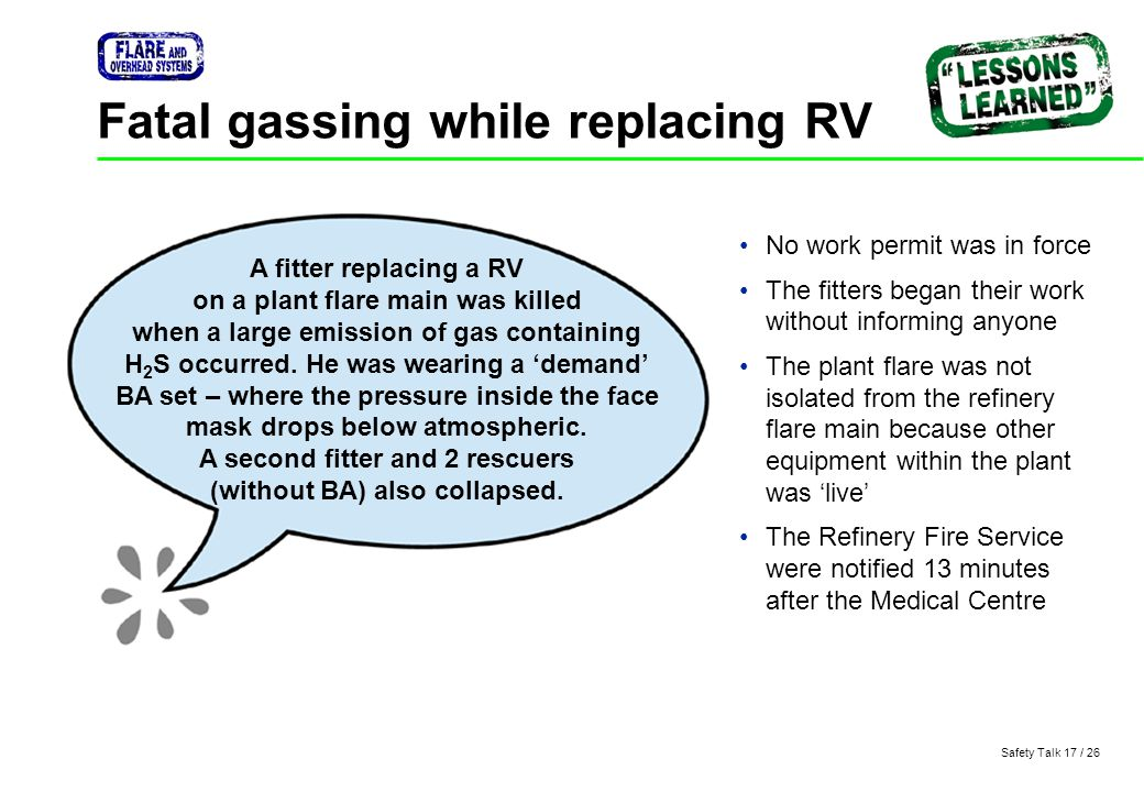 Fatal gassing while replacing RV