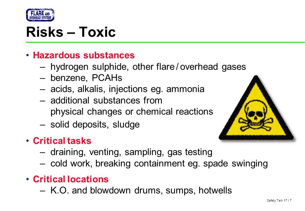 Risks – Toxic