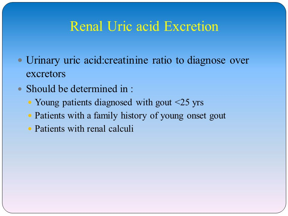 Renal Uric acid Excretion