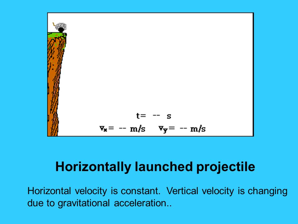 Horizontally launched projectile
