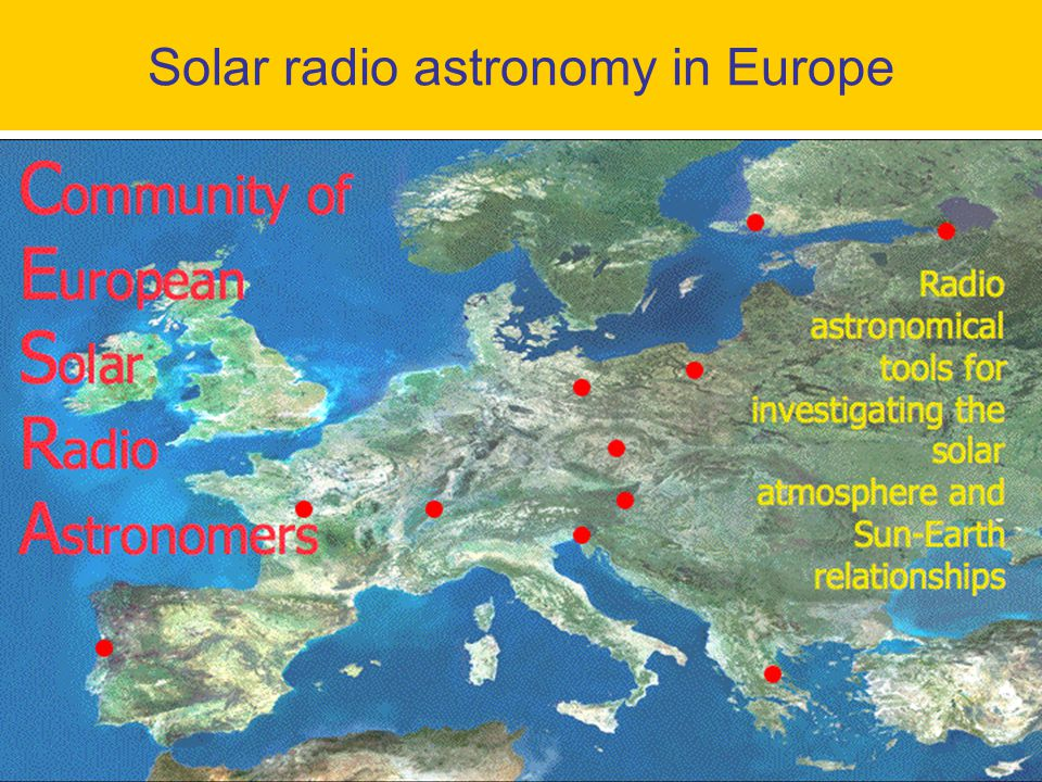 Solar radio astronomy in Europe