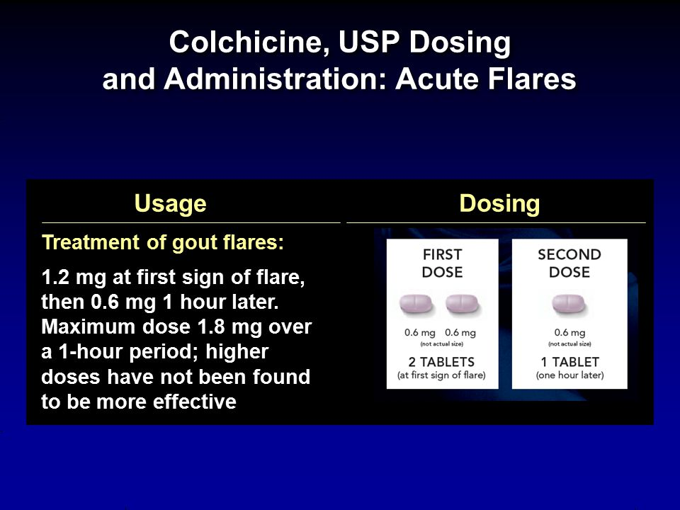 Colchicine, USP Dosing and Administration: Acute Flares