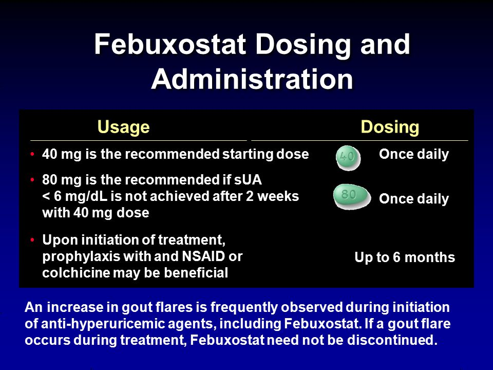 Febuxostat Dosing and Administration