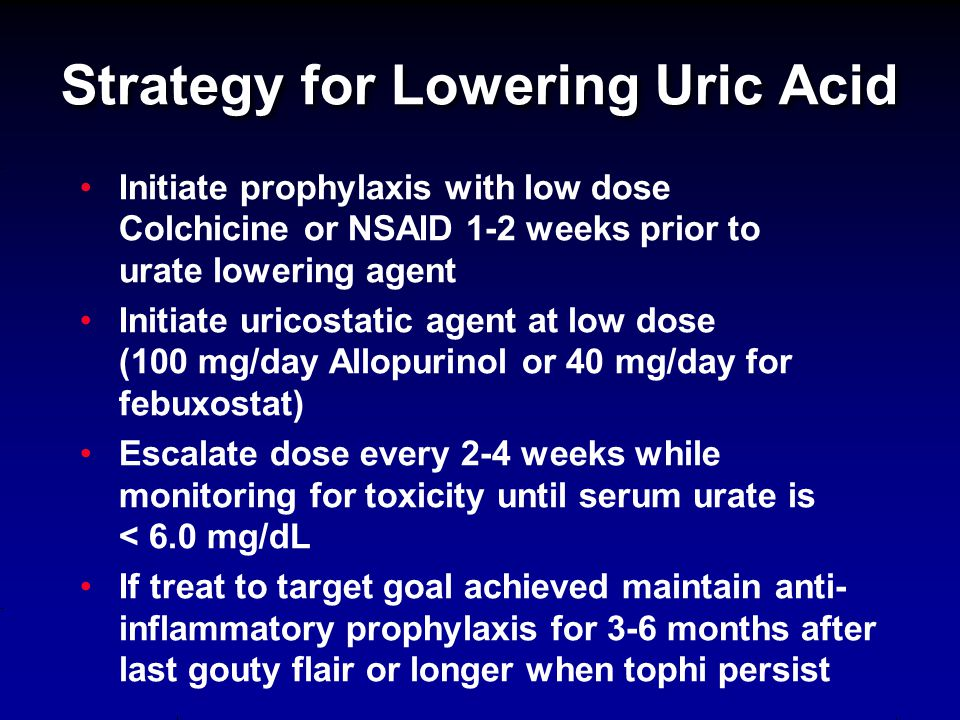 Strategy for Lowering Uric Acid
