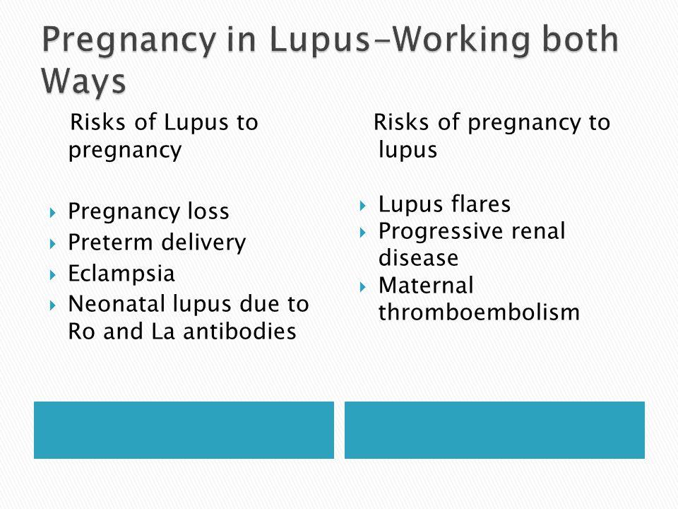 Pregnancy in Lupus-Working both Ways
