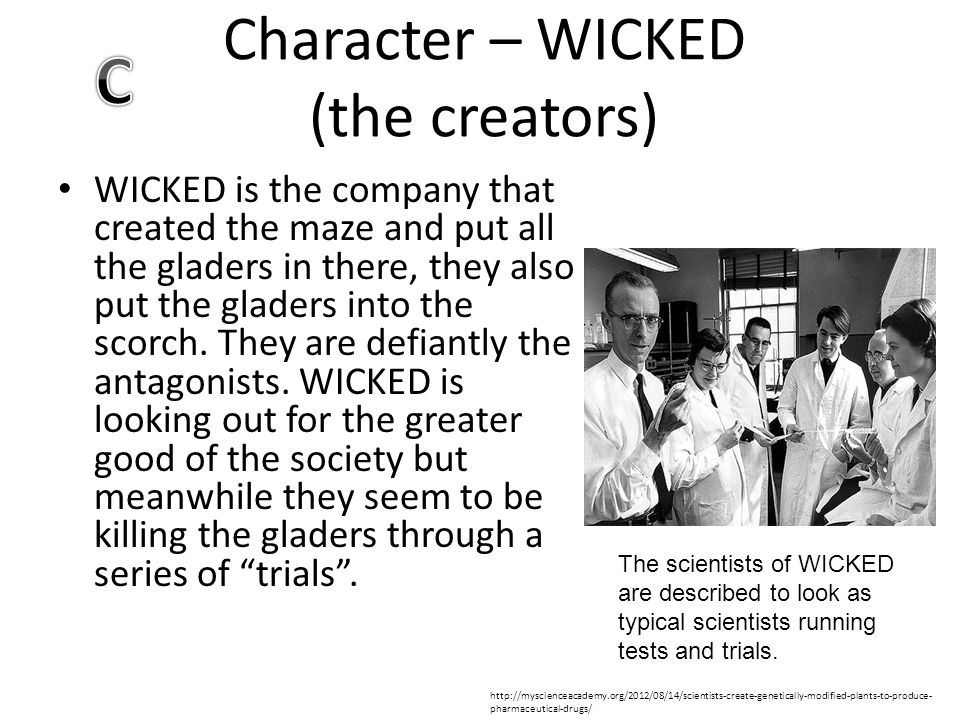 Character – WICKED (the creators)