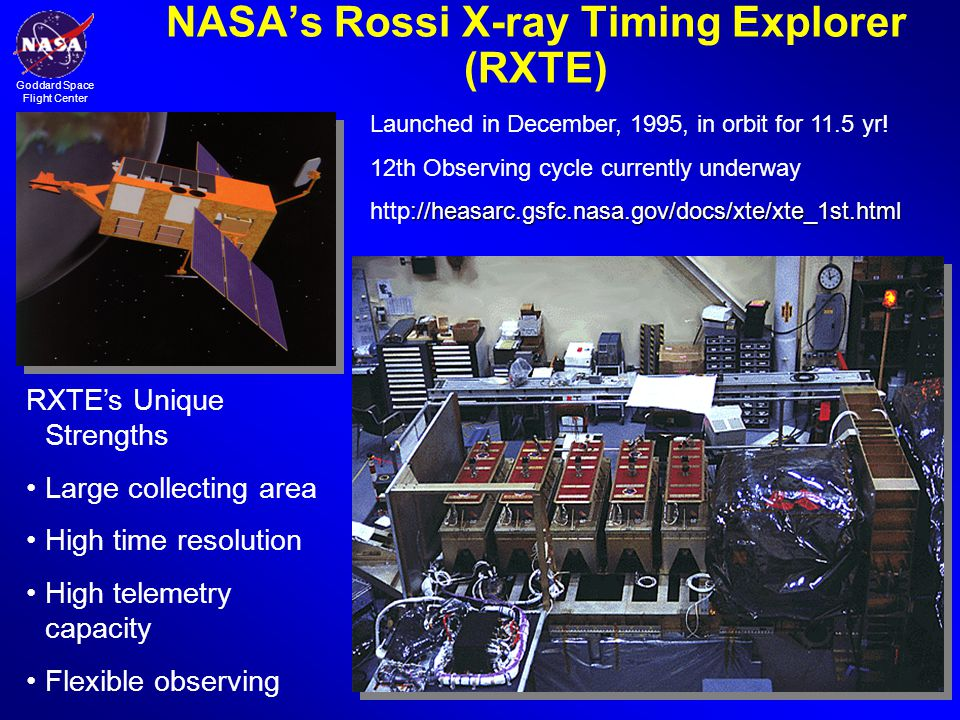 NASA's Rossi X-ray Timing Explorer (RXTE)