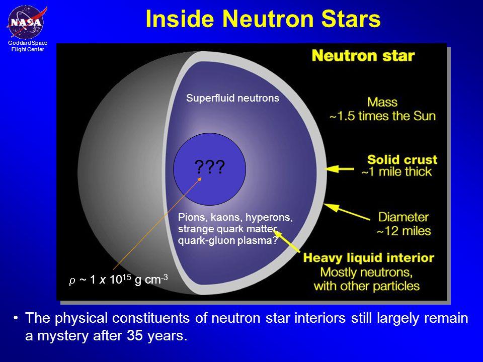 Inside Neutron Stars Superfluid neutrons. Pions, kaons, hyperons, strange quark matter, quark-gluon plasma