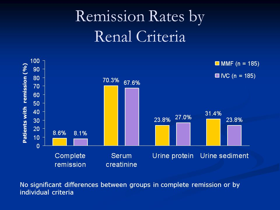 Remission Rates by Renal Criteria