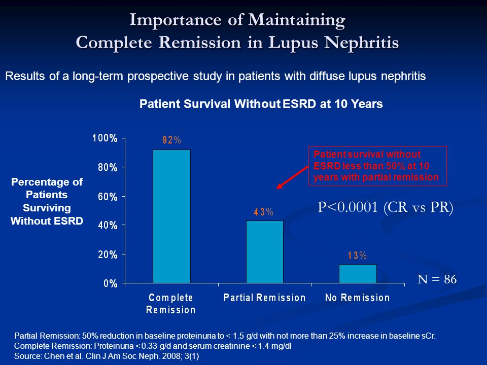 Importance of Maintaining Complete Remission in Lupus Nephritis